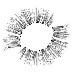 Natural, wispy eyelash with a flexible band