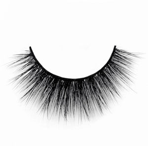 Natural silk eyelash with flexible cotton band for small eye shapes