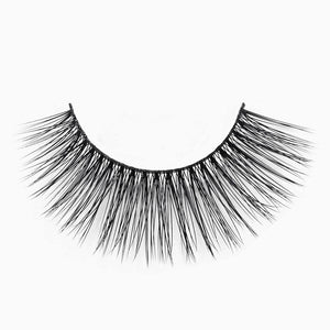 Faux mink cruelty free eyelash with thin comfortable band