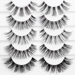 Natural, wispy eyelashes with flexible, comfortable bands