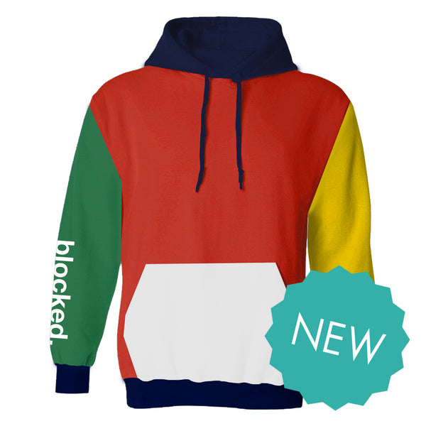 Blocked Colorblock Hoodie