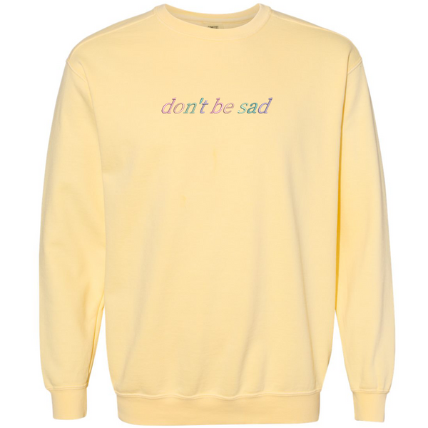 Butter Be Sad Pastel Crewneck