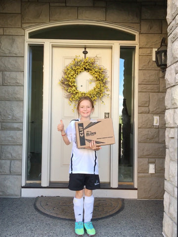 girl delivering package