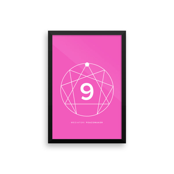 Enneagram #9 Framed photo paper poster