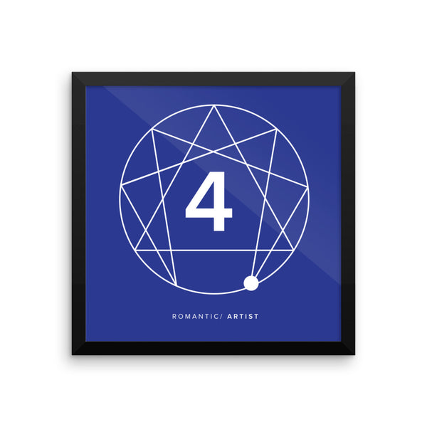 Enneagram #4 Framed photo paper poster