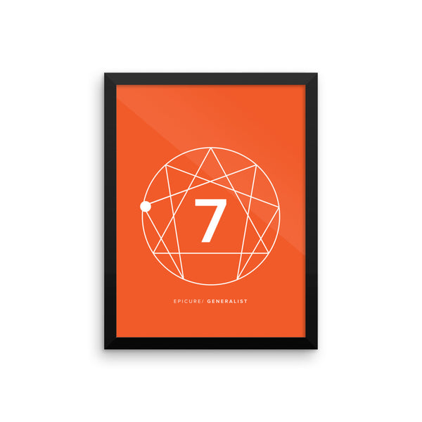 Enneagram #7 Framed photo paper poster