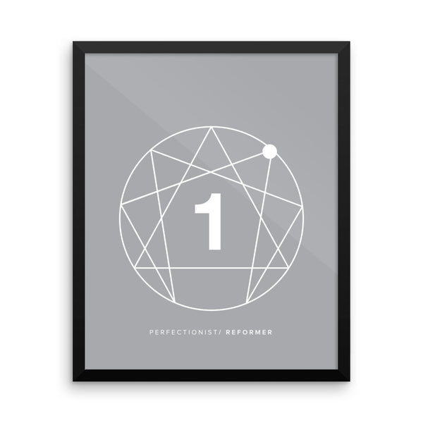 Enneagram #1 Framed photo paper poster