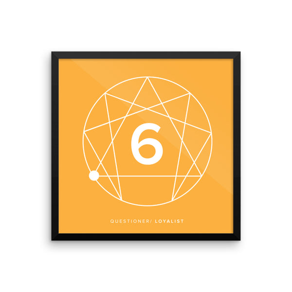 Enneagram #6 Framed photo paper poster