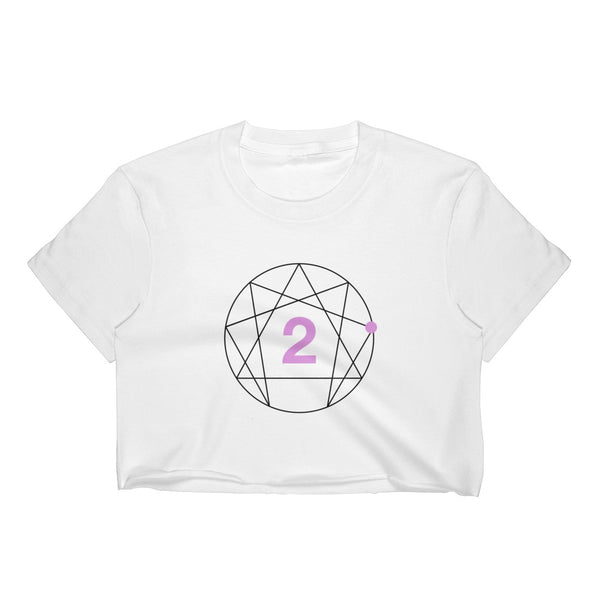 Enneagram #2 Colored Women's Crop Top