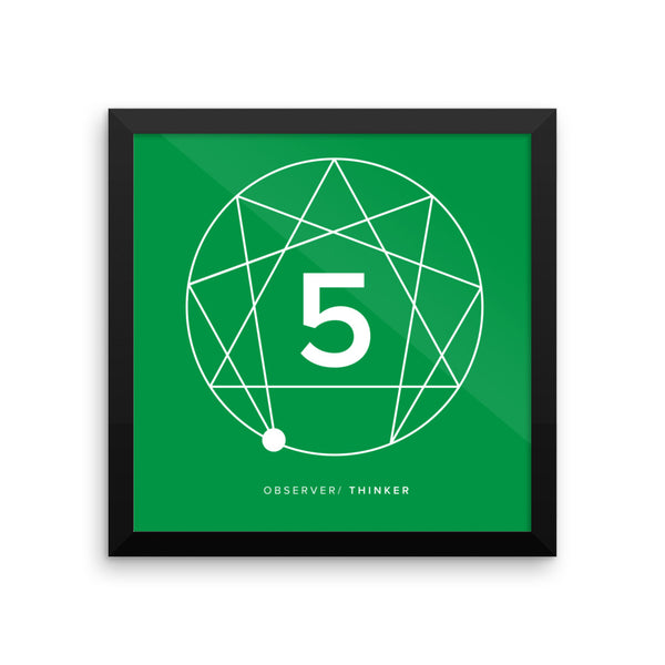 Enneagram #5 Framed photo paper poster