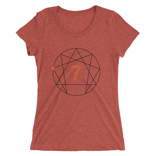 Enneagram #7 Colored Ladies'  t-shirt