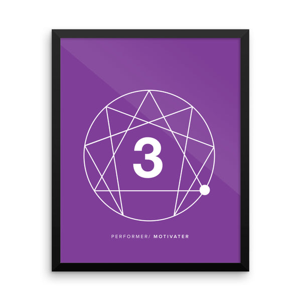 Enneagram #3 Framed photo paper poster