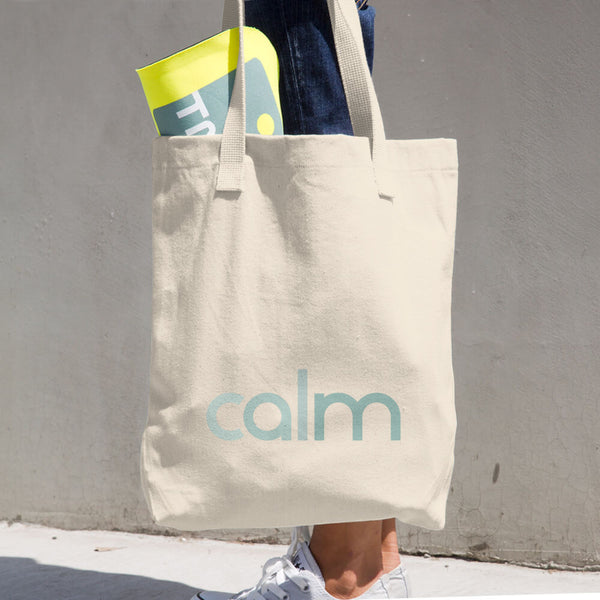 Calm Cotton Tote Bag