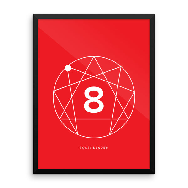 Enneagram #8 Framed photo paper poster