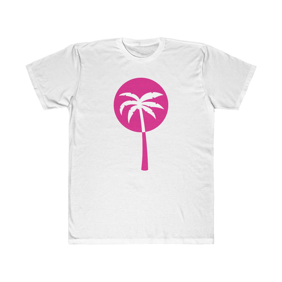 Pink Inverted Palm Tree Lightweight Graphic T-Shirt