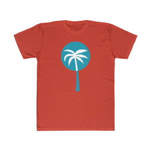 Light Blue Inverted Palm Tree Lightweight Graphic T-Shirt