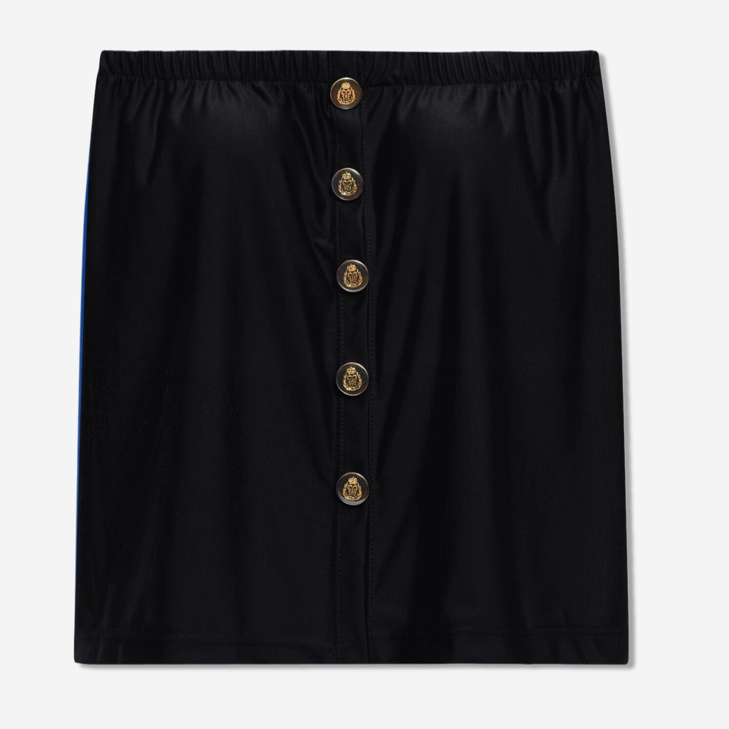 Regular Button-Down Top (Black)