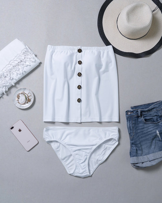 Regular Button-Down Top (White)