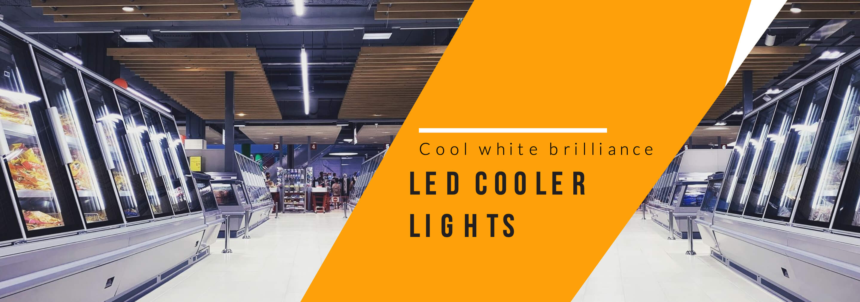 Banner LED Cooler Lights - Cool white brilliance 1o 2880x1012