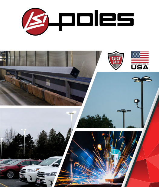 LSI Round Steel Tapered Poles