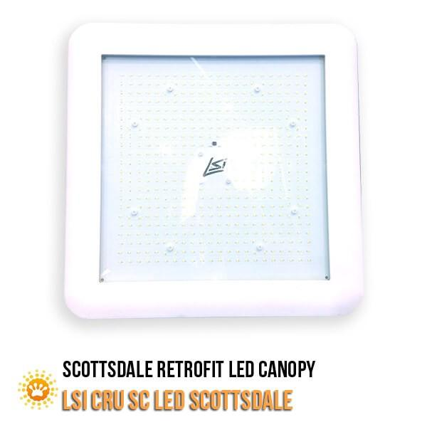 LSI CRU-SC-LED-SS-HO-VHO-CW-UE-WHT Gas Station Canopy Lights