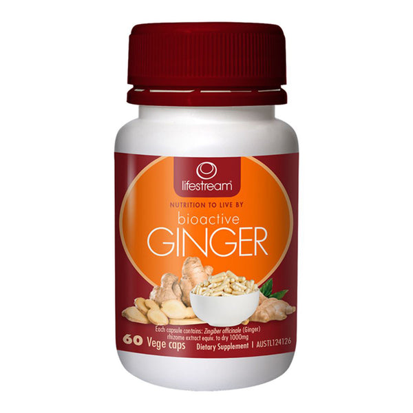 Lifestream Bioactive Ginger- 60 veg capsules