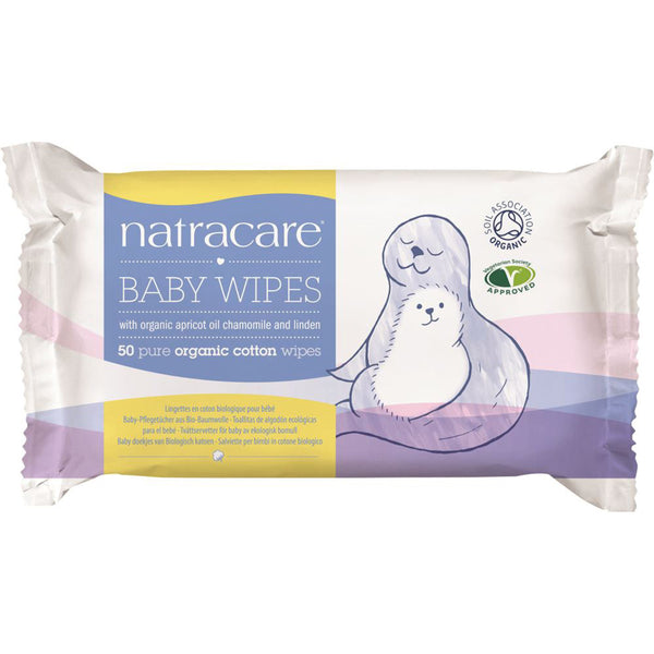 Natracare Organic Cotton Baby Wipes x 50 Pack