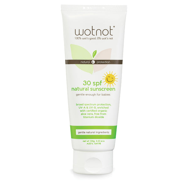 Wotnot 30 Plus SPF Natural Baby Sunscreen 100g