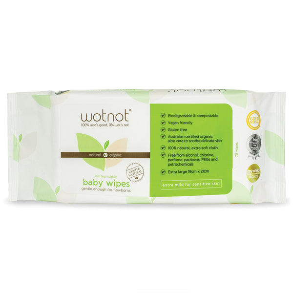 Wotnot Biodegradable Baby Wipes x70 Pack