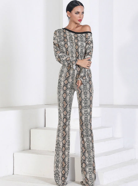 Snakeskin Shoulder Pants Loose Wide-leg Pants