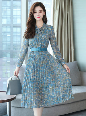 Maxi Boho Dresses Elegant Women Party Long Sleeve Dress