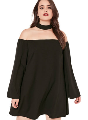 Solid Chiffon Dress Loose Short Dress Long Sleeve