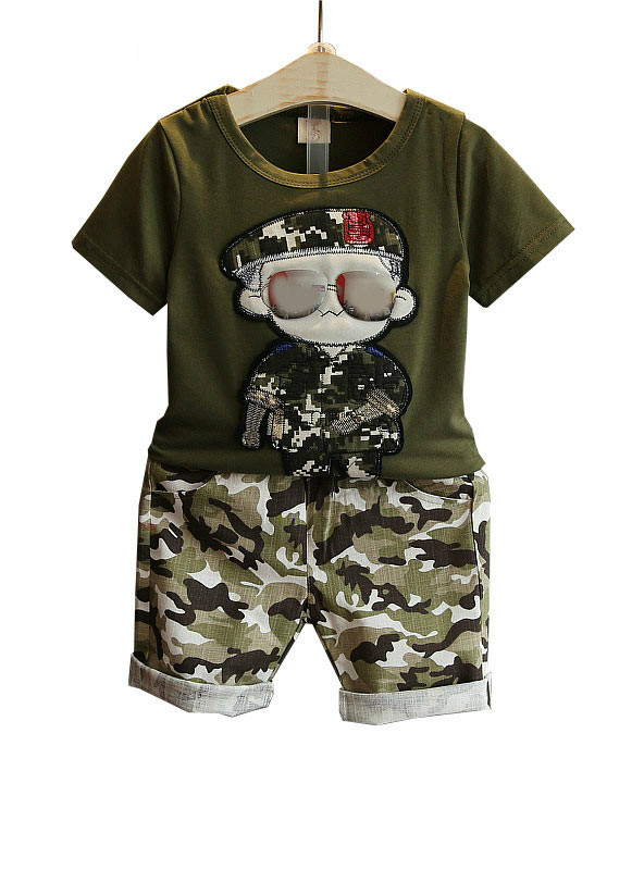 Sets Kids 2pcs Short Sleeves T-Shirt Toddler Suits