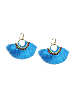 Boho Tassel Earrings Handmade Long Earring