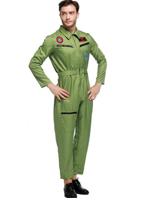 Men's Uniform Men's Pilot Uniform Set Halloween