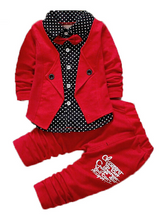 Baby Kids Button Letter Bow Clothing