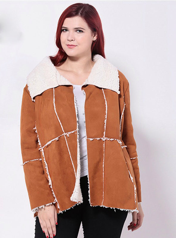 Worsted Casual Loose Long Sleeve Coats Jacket