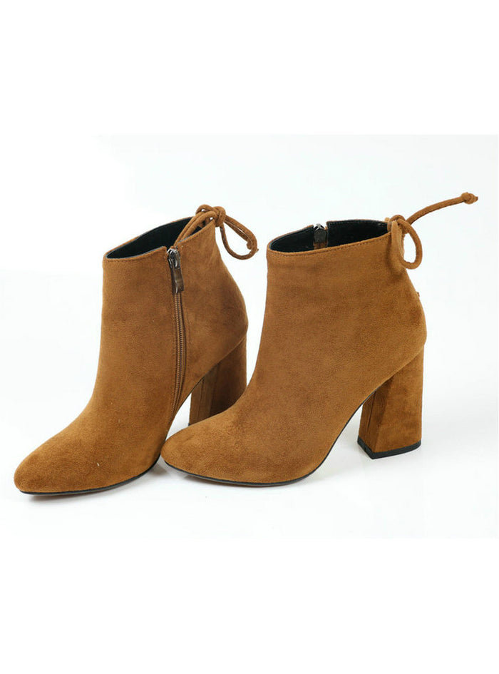 Ankle Boots Round Toe Winter Boots Ladies Party