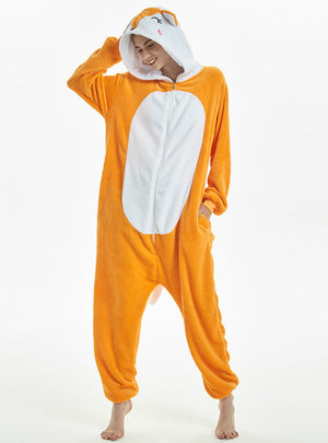 Fox Winter Adults Animal Pajamas Sets Adult