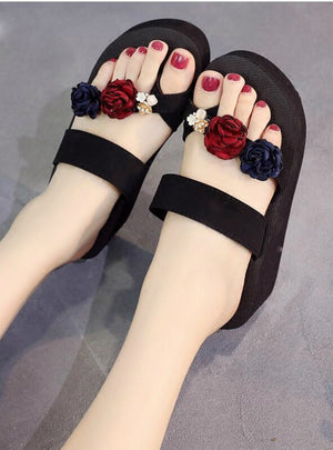 High Heel Flip-Flops Slippers Women's Summer Fashion