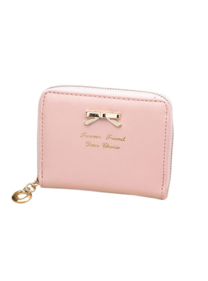 Purse Clutch Women Wallets Short Small Bag PU Leather