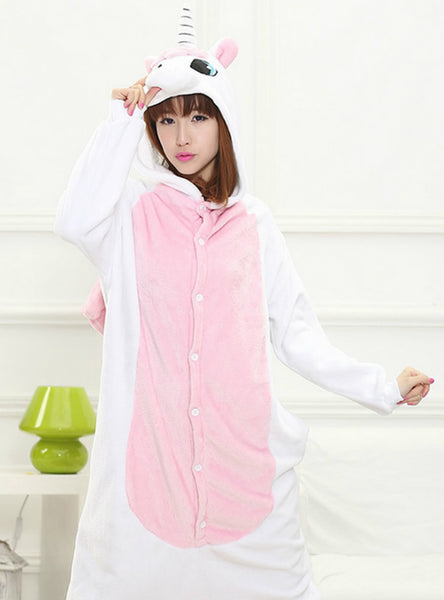 Pink Unicorn Costume Pajamas Sleepwear Onesie