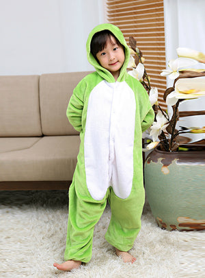 Flannel Children's Frog Conjoined Pajamas