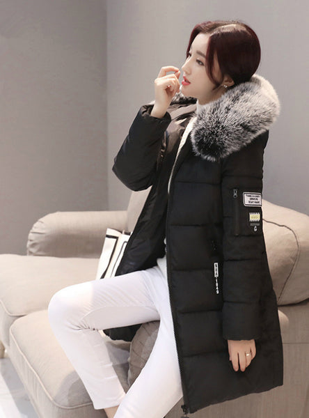 Parka Women Winter Coats Long Cotton Casual Fur