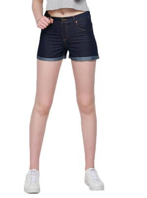 Shorts Jeans Women Button Pockets Bottoms