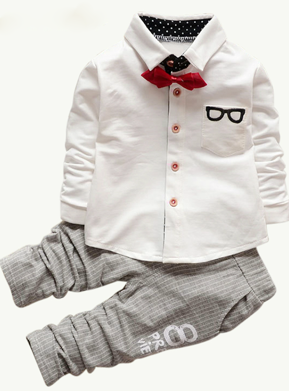 Long Sleeve Sports Suits Bow Tie T-shirts + Pants