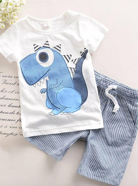 Boys Clothes Cartoon Kids Boy Clothing Set T-shit+Pants