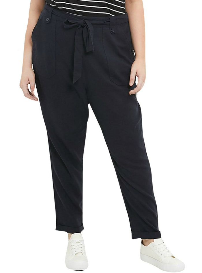 Solid Black Pants Loose Full Length Harem Pants