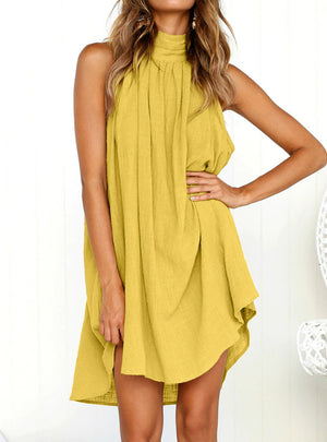 Ladies Summer Beach Sleeveless Party Dress