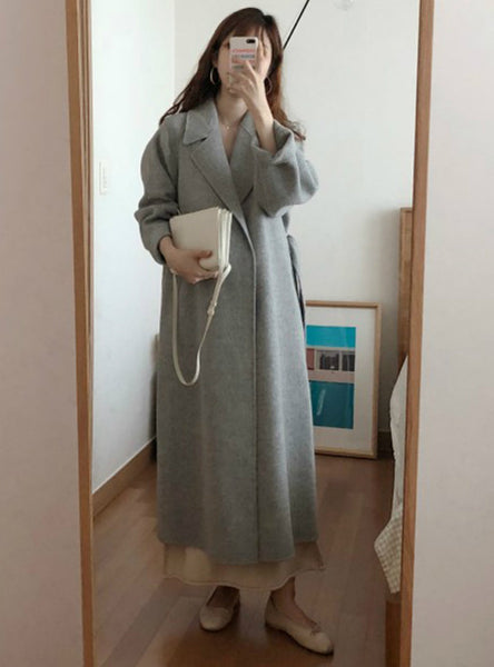 Winter Long Overcoat Outwear Coat Loose